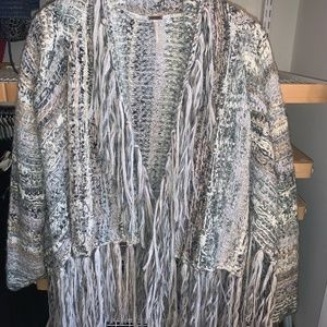Free People Knit Cardigan with Fringe